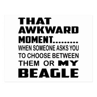 That awkward moment Beagle. Postcard