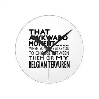 That Awkward Moment Belgian Tervuren Round Wall Clock