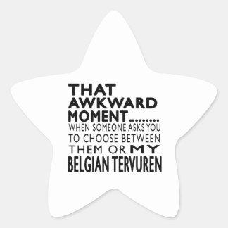 That Awkward Moment Belgian Tervuren Star Stickers