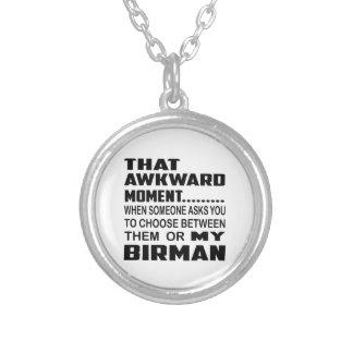 That awkward moment Birman. Round Pendant Necklace