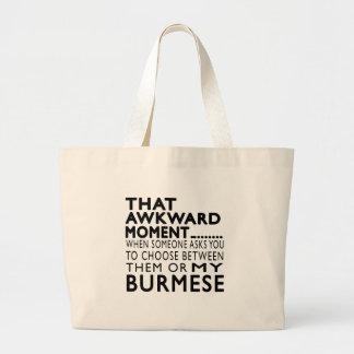 That Awkward Moment Burmese Designs Tote Bags