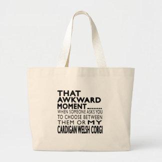 That Awkward Moment Cardigan Welsh Corgi Tote Bag