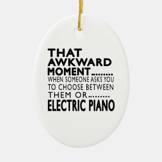 That Awkward Moment Electric Piano Designs Ceramic Oval Decoration