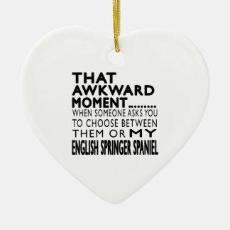 That Awkward Moment English Springer Spaniel Christmas Ornament