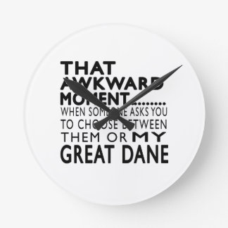 That Awkward Moment Great Dane Clocks
