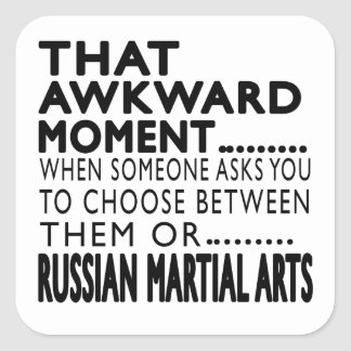 That Awkward Moment Russian Martial Arts Designs Square Stickers