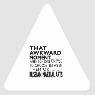 That Awkward Moment Russian Martial Arts Designs Triangle Sticker