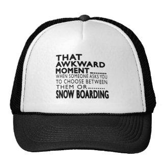 That Awkward Moment Snow Boarding Designs Trucker Hat