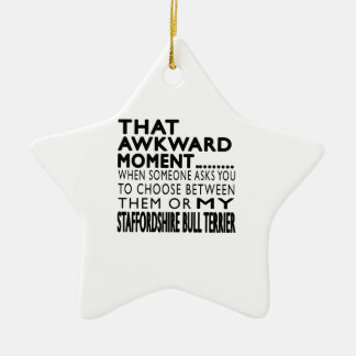 That Awkward Moment Staffordshire Bull Terrier Christmas Tree Ornaments