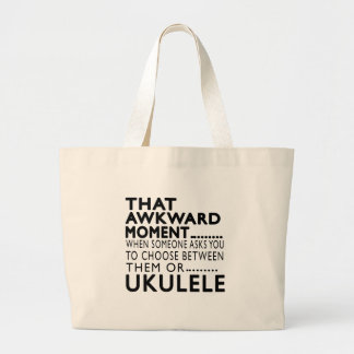 That Awkward Moment Ukulele Designs Tote Bags
