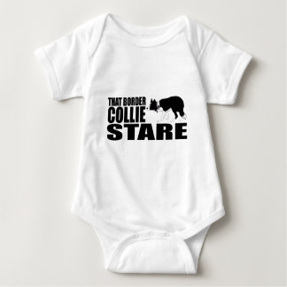 That Border Collie Stare Baby Bodysuit