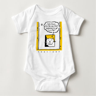 That Cat - is in a bit of a flap! Baby Bodysuit