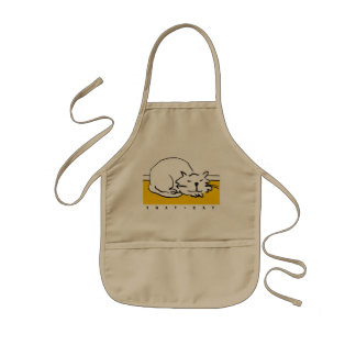That Cat is sleeping. Kids Apron