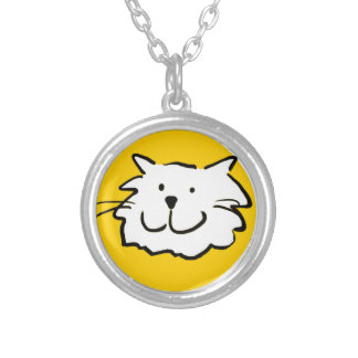 That Cat - smiling Silver Plated Necklace