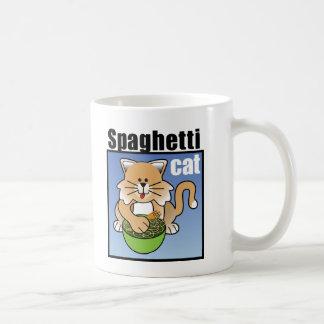 That Crazy Spaghetti Cat Basic White Mug