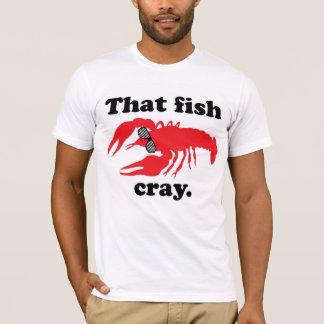 That Fish Cray Men's White AA Tee (may run small)