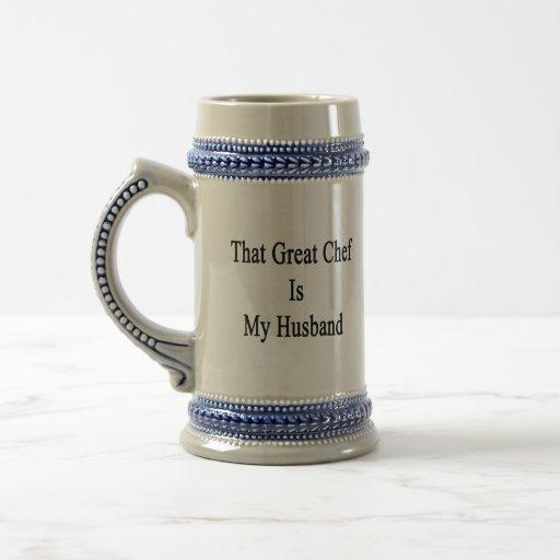 That Great Chef Is My Husband Mug