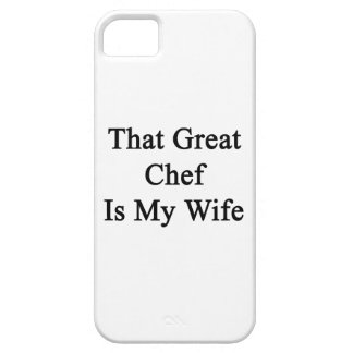 That Great Chef Is My Wife iPhone 5/5S Covers