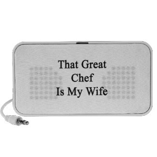 That Great Chef Is My Wife Speakers