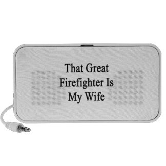 That Great Firefighter Is My Wife iPhone Speaker