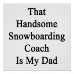That Handsome Snowboarding Coach Is My Dad Poster