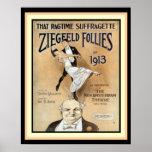 That Ragtime Suffragette- Ziegfeld Follies Poster