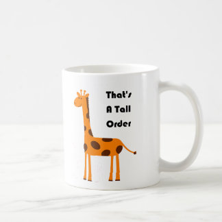 That's a Tall Order Orange Giraffe Cartoon Coffee Mug