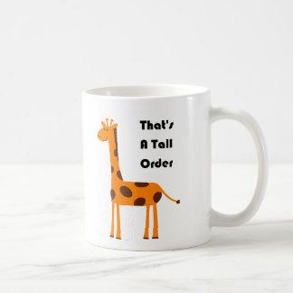 That's a Tall Order Orange Giraffe Cartoon Mug