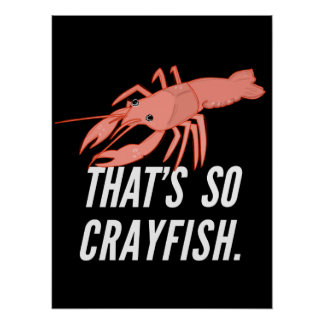 That s so crayfish poster