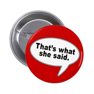That s What She Said Talk Bubble T shirts Pins