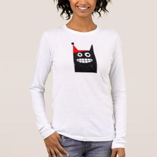 ThatCat holiday hat Long Sleeve T-Shirt
