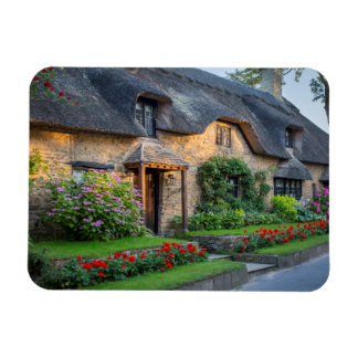 Thatch roof cottage in England Rectangular Photo Magnet