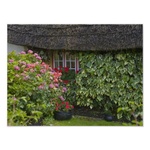 Thatched cottage, Adare, County Limerick, Print
