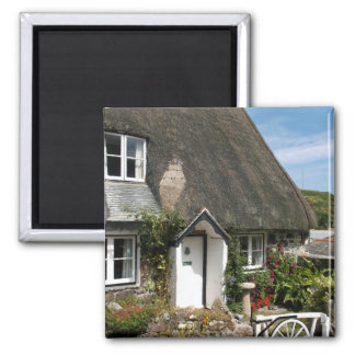 Thatched Cottage at Cadgwith Cornwall Photograph Magnet