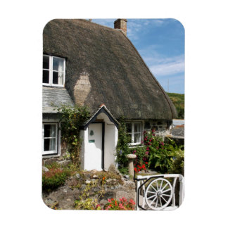 Thatched Cottage at Cadgwith Cornwall Photograph Rectangular Photo Magnet