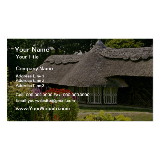 Thatched cottage, England  flowers Pack Of Standard Business Cards
