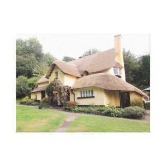 Thatched Cottage in Selworthy Gallery Wrapped Canvas