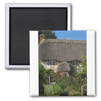 Thatched Cottage Square Magnet
