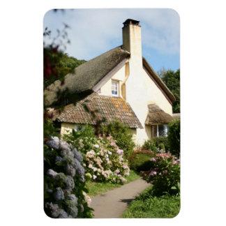 Thatched Cottage, Selworthy, Exmoor, Somerset, UK Rectangular Photo Magnet