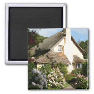 Thatched Cottage, Selworthy, Exmoor, Somerset, UK Square Magnet
