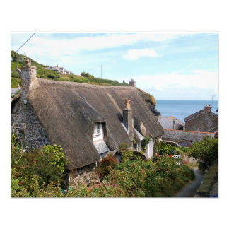 Thatched Cottages at Cadgwith Cornwall Photograph