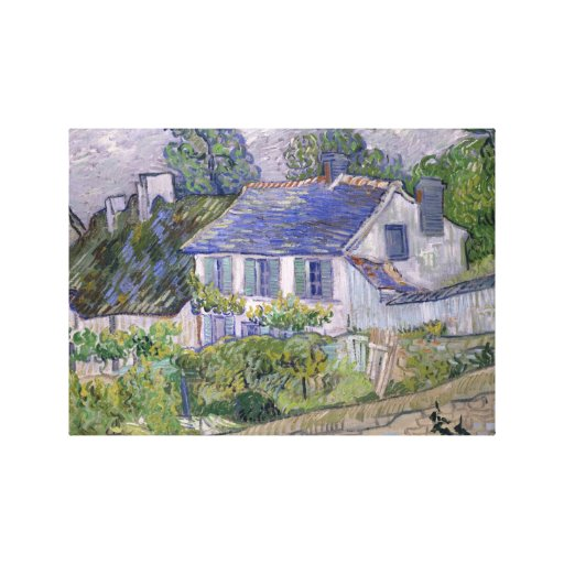 Thatched Cottages at Cordeville Gallery Wrap Canvas