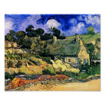 Thatched Cottages at Cordeville Van Gogh Fine Art Poster
