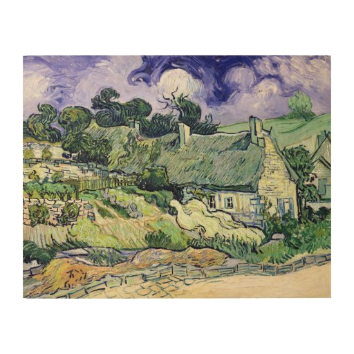 Thatched cottages at Cordeville, Wood Canvases