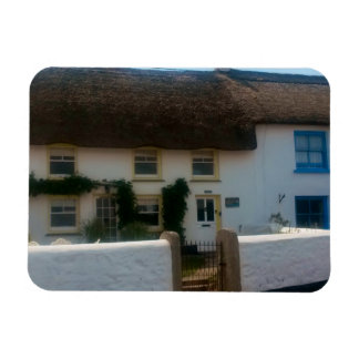Thatched Cottages at Coverack Cornwall England Magnet
