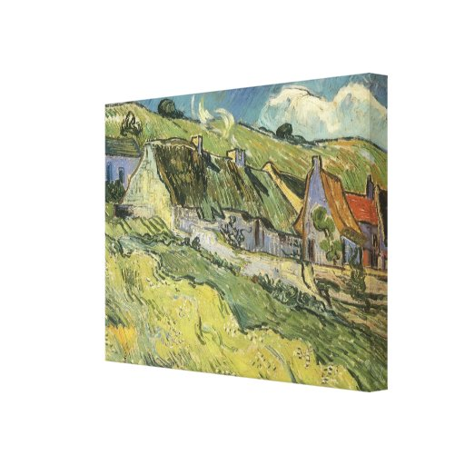 Thatched Cottages by Vincent van Gogh Stretched Canvas Print