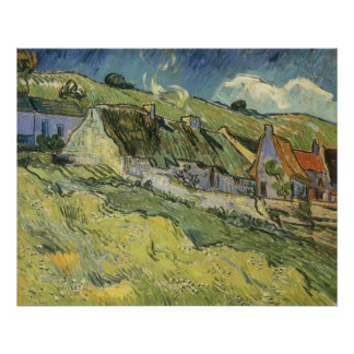 Thatched Cottages by Vincent van Gogh Posters