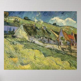 Thatched Cottages, van Gogh, Vintage Impressionism Posters