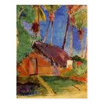 'Thatched Hut Under Palms' - Paul Gauguin