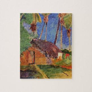 'Thatched Hut Under Palms' - Paul Gauguin Jigsaw Puzzle